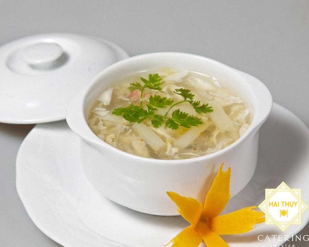 Soup măng tây cua