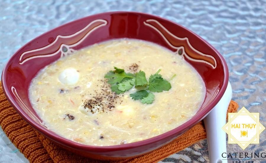 Soup tôm cua trứng cút lộn