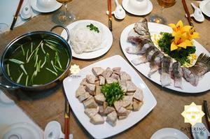 Lẩu cá chẽm khoai môn - Góp phần cho thực đơn tân gia nhà bạn thêm hấp dẫn