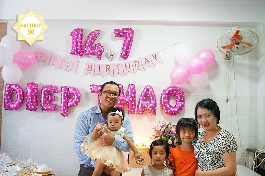 Buổi tiệc sinh nhật tại nhà ý nghĩa dành cho bé Diệp Thảo