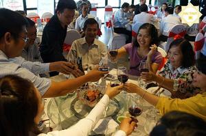 Hình ảnh tiệc khai trương cửa hàng San Hà Food - Long An