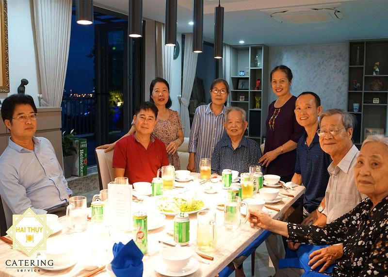 Tiệc tân gia tại nhà anh Giang, quận 7 - Hai Thụy Catering