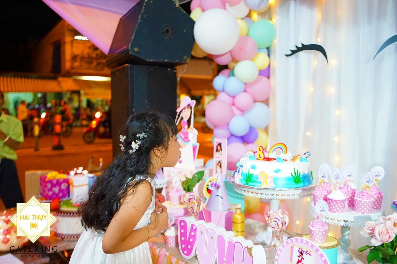 Tiệc sinh nhật tại nhà cho bé Tuyết Vy nhân dịp tròn 8 tuổi