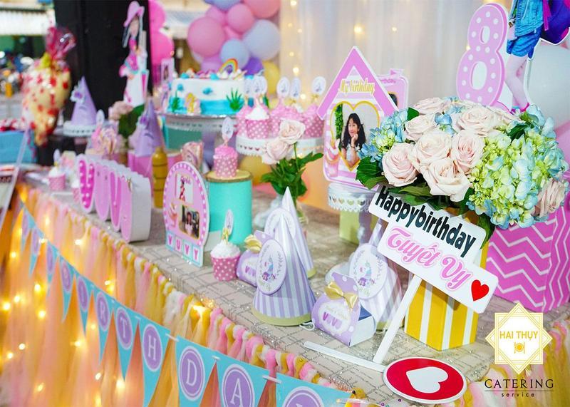 Tổ chức tiệc sinh nhật tại nhà cho bé Tuyết Vy – Hai Thụy Catering