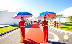 Đội ngũ Lễ tân của Hai Thụy Catering rạng rỡ trong tà áo dài truyền thống