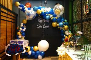 Background trang trí tiệc sinh nhật bé Cẩm Loan