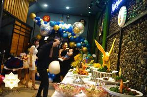 Khu vực check in chụp hình lưu giữ kỷ niệm của buổi tiệc