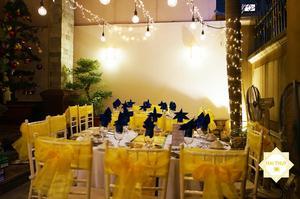 Nổi bật sắc vàng gold - Hình ảnh quen thuộc trong các bữa tiệc của Hai Thụy Catering