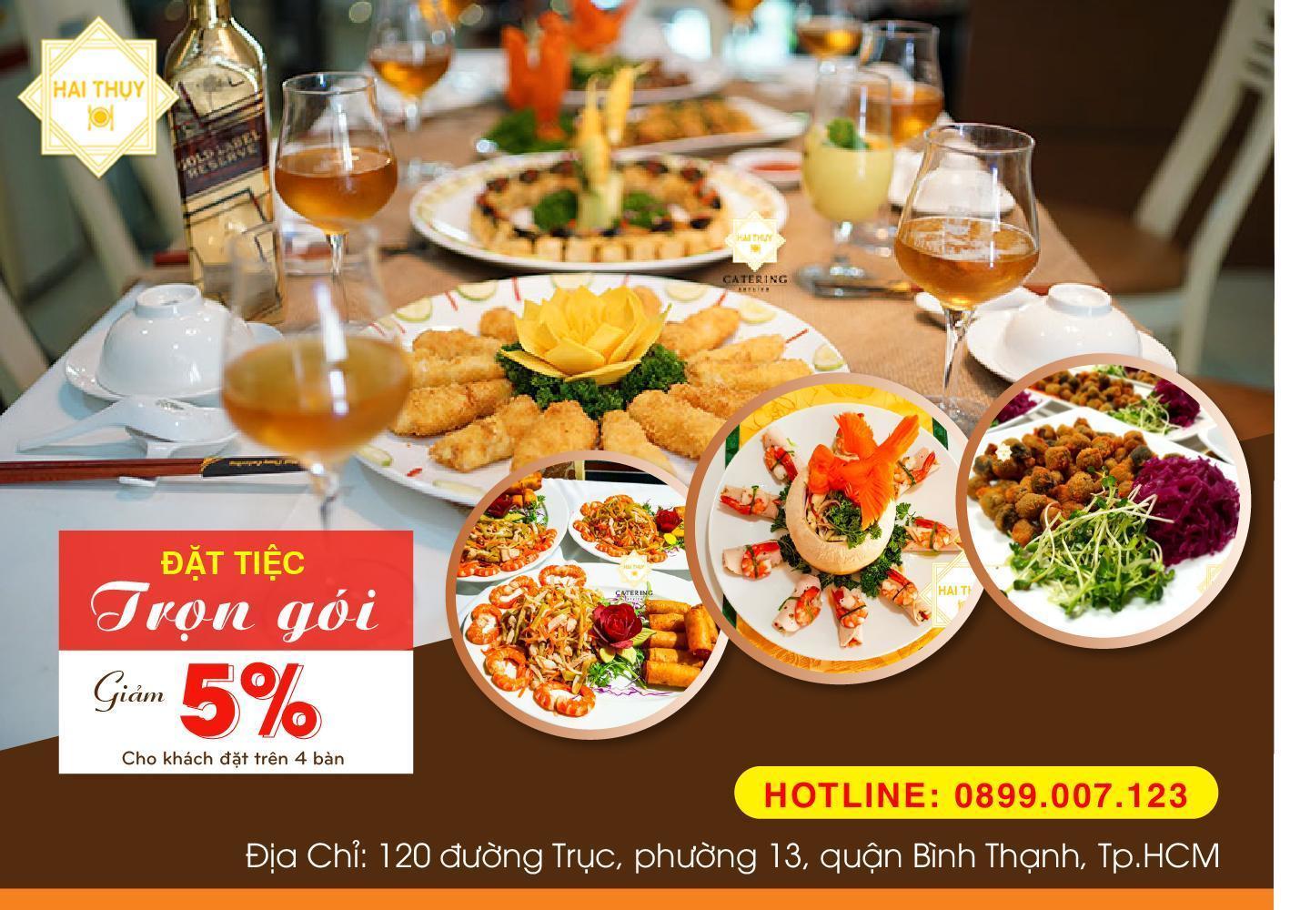 Tận hưởng trọn vẹn sự hoàn hảo từ dịch vụ đặt tiệc trọn gói Hai Thụy Catering